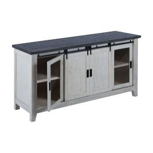 Garcia Antique White and Gray 72-Inch Three-Door Credenza