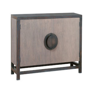 Mula Heritage Gray Stain and Gray Stone Stain 36-Inch Two-Door Cabinet