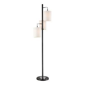 Uprising Black Chrome Three-Light Floor Lamp