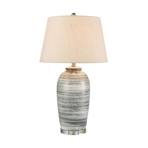 Monterey Gray and Antique Nickel 17-Inch Table Lamp