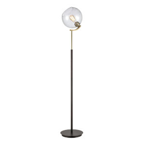 Collective Oil Rubbed Bronze, Antique Brass and Clear 11-Inch Floor Lamp