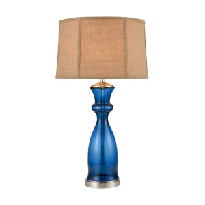 Drina Blue Polished Nickel One-Light Table Lamp