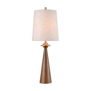 Stissing Brown Burlwood Aged Brass One-Light Table Lamp