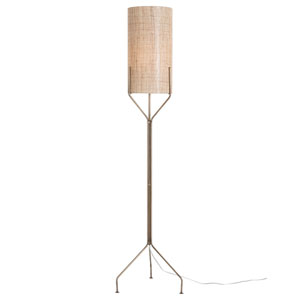 Ellis Antique Brass One-Light Floor Lamp