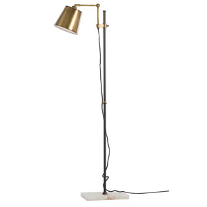 Watson Antique Brass One-Light Floor Lamp