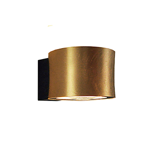 Impulse Gold Leaf and Black Integrated LED Wall Sconce