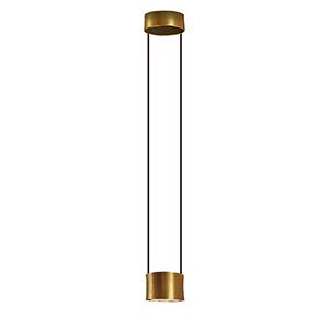 Impulse Gold Leaf and Black Integrated LED Mini Pendant