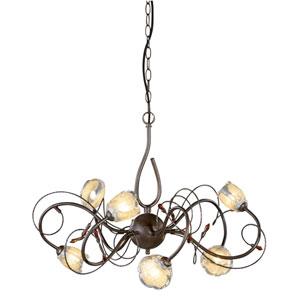 Caprice Bronze Six-Light Chandelier
