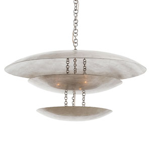 Florko Silver Leaf Eight-Light Mini Pendant