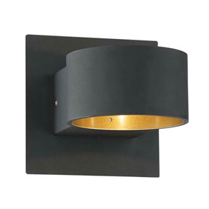 Lacapo Matte Black LED Wall Sconce