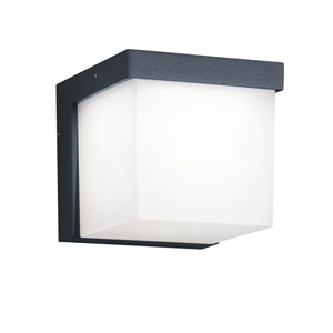 Yangtze Dark Grey LED Outdoor Wall Sconce