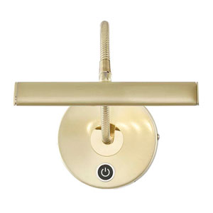 Curtis Matte Brass LED Picture Light