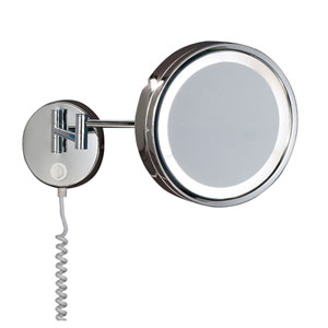 H2O Chrome 9-Inch LED Bathroom Mirror