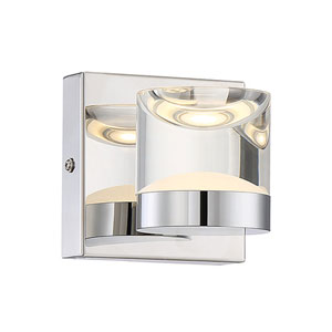 H2O Chrome 7-Inch LED Bathroom  Light