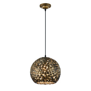 Frieda Antique Brass One-Light Pendant