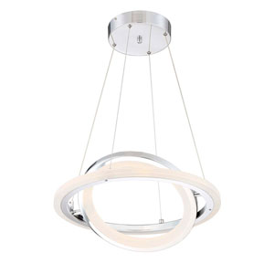 Saturn Chrome LED Pendant