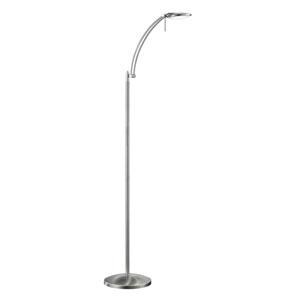 Dessau Matte Nickel LED Floor Lamp