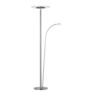Tampa Matte Nickel LED Torchiere