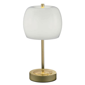 Pear Polished Brass 7-Inch LED Table Lamp