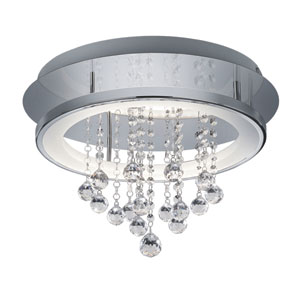 Dorian Chrome 18-Inch LED Flush Mount