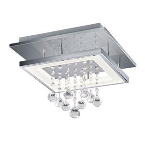 Dorian Chrome 14-Inch LED Square Flush Mount