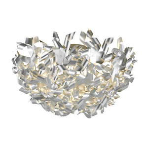 Pinwheel Aluminum Five-Light Flush Mount