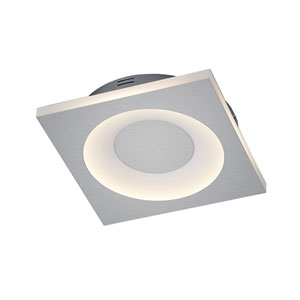 Atlanta Matte Nickel 12-Inch LED Flush Mount