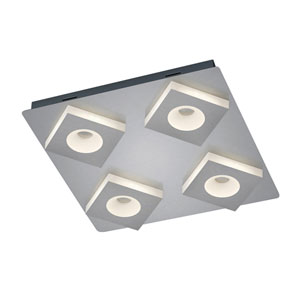 Atlanta Matte Nickel 17-Inch LED Flush Mount