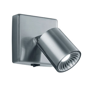 Cayman Matte Nickel 4-Inch LED Wall and Flush Mount