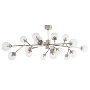Dallas Polished Nickel Eighteen-Light Chandelier