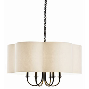 Rittenhouse Bronze Six Light Large Chandelier