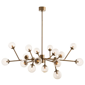 Dallas Vintage Brass 18-Light Chandelier