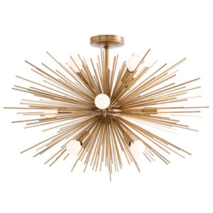 Zanadoo Antique Brass Twelve-Light Pendant