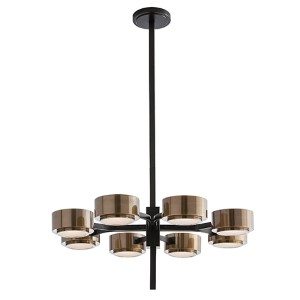 Jalen Bronze Eight-Light Chandelier