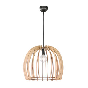 Wood 20-Inch One-Light Pendant