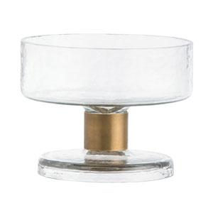 Didi Clear with Antique Brass Medium Bowl