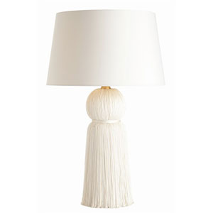 Tassel Ivory Table Lamp