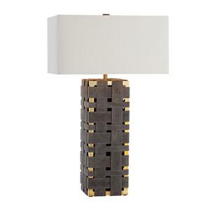 Elis Moss Gray One-Light Lamp