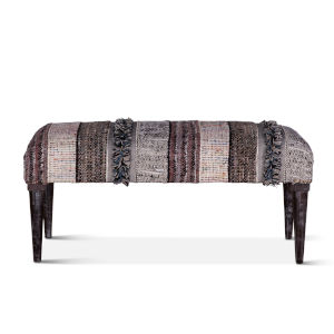 Algiers Gray and Black Accent Bench