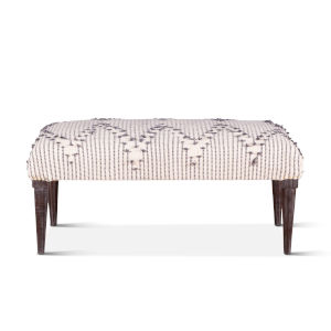 Algiers Off White and Black Accent Bench