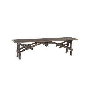 Anderson Weathered Gray and Gun Metal Bench