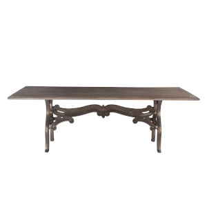 Anderson Weathered Gray and Gun Metal 90-Inch Dining Table