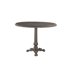 Anderson Weathered Gray and Gun Metal 40-Inch Dining Table