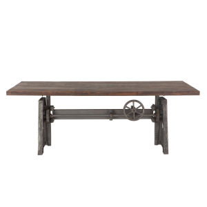 Artezia Weathered Gray and Gray Zinc Dining Table