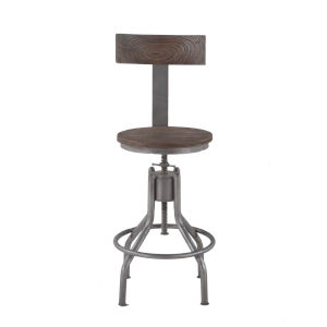Artezia Weathered Gray Bar Chair, Set of Two