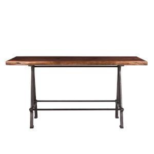 Artezia Walnut and Antique Zinc 72-Inch Acacia Wood Live Edge Gathering Table