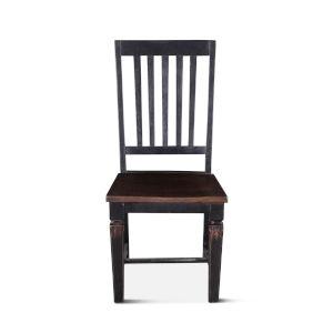 Aureille Dark Walnut And Black Rub Dining Chair, Set Of 2