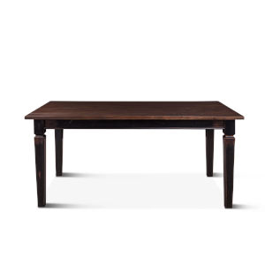 Aureille Dark Walnut And Black Rub Dining Table With Extension
