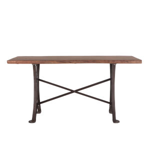 Blayne Natural Walnut and Antique Zinc Dining Table