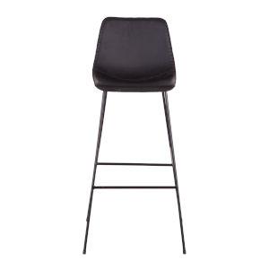Hudson Matte Black Bar Chair, Set Of 2